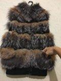 Натуральная меховая жилетка. Фото 3.
