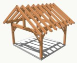 Проектирование красивых домов с каркасом из бруса. Фото 1.