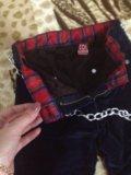 Детские микровельветовые штаны с тёплой подкладой. Фото 2.