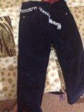 Детские микровельветовые штаны с тёплой подкладой. Фото 1.