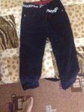 Детские микровельветовые штаны с тёплой подкладой. Фото 3.