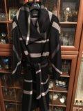 Пальто в клетку кашемировое. Фото 1.