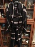 Пальто в клетку кашемировое. Фото 3.
