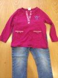 Комплект кофточка и джинсы. Фото 1.