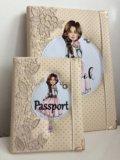 Блокнот и обложка на паспорт. Фото 1.