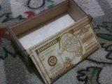 Сувенир, шкатулка для денег, деревянная. Фото 3.