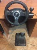 Игровой руль + педали logitech driving force pro. Фото 2.