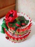 """Торт из конфет """"маки"""". Фото 1."""