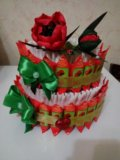 """Торт из конфет """"маки"""". Фото 2."""