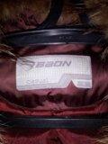 Пуховик baon,отделка натуральный мех. Фото 2.