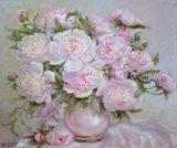 """""""пионы в вазе"""" картина маслом. Фото 1."""
