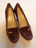 Туфли новые кожаные 38р. Фото 2.