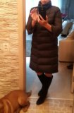 Элегантное пальто пуховик. Фото 1.