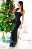 Платье-бюстье в пол. Фото 1.