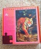 Пазлы тигр бархат. Фото 2.