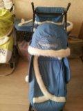 Санки коляска. Фото 2.