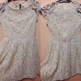 Платье белое кружевное h&m. Фото 1.