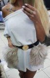 Платье с натуральным мехом. Фото 4.
