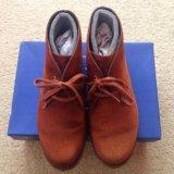 Ботинки замшевые на тонкой байке. Фото 2.