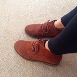 Ботинки замшевые на тонкой байке. Фото 3.