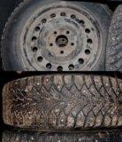 Зимние колёса на штамповке 195/65 r15 (4 шт). Фото 1.