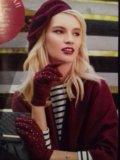 Новые берет и перчатки. Фото 1.