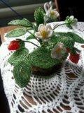 Цветы из бисера. Фото 1.