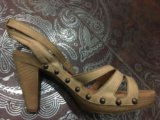 Gabor кожаные босоножки  37 размер. Фото 1.