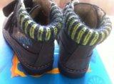 Ботинки демисезонные с утеплением котофей 21размер. Фото 2.