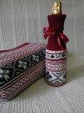 Чехол на бутылку новогодний. Фото 1.
