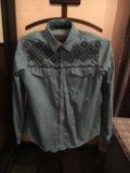 Рубашка zara с вышивкой. Фото 1.