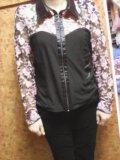 Брюки вильветовые и блузка. Фото 3.