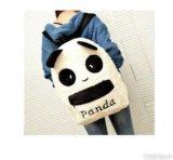 "Рюкзак плюшевый ""панда"" + сумочка и пенал. Фото 1."