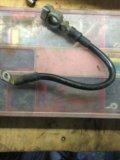 Клемма аккумулятора минус. Фото 1.