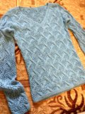 Кофта ручной вязки, б/у. Фото 1.