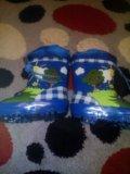 Утепленные резиновые сапожки. Фото 1.
