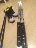 Лыжи палки и ботинки. Фото 3.