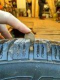 Комплект литых дисков с зимней резиной. Фото 1.