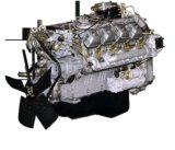 Двигатель 740 камаз с кпп б/у. Фото 1.