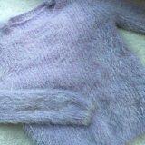 Лавандовый пушистый свитер. Фото 1.