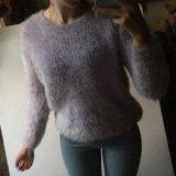 Лавандовый пушистый свитер. Фото 2.