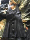 Платье натуральная кожа. Фото 1.