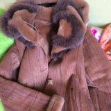 Дубленка пальто зима. Фото 2.