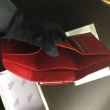 Красный кошелёк prensiti (кожа, 14х8,5см). Фото 4.