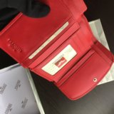 Красный кошелёк prensiti (кожа, 14х8,5см). Фото 3.