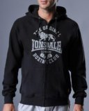 Толстовка худи lonsdale club logo black. Фото 1.