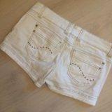 Шорты белые джинса m. Фото 2.