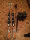 Горные лыжи комплект. Фото 1.