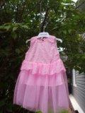 Платье нарядное для девочки 3-6 мес. Фото 1.