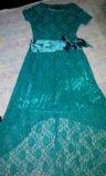 Гипюровое платье со шлейфом. Фото 3.